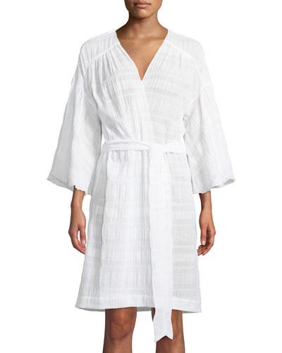 Nina Cotton-Blend Robe