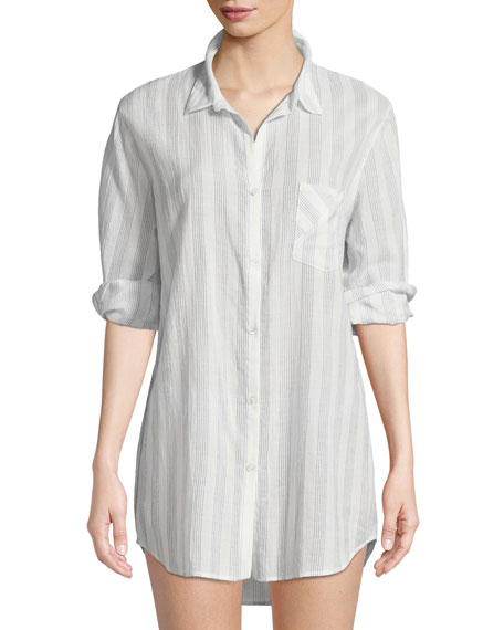 Ina Striped Sleepshirt