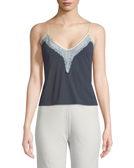 Gia Lace-Trim Camisole