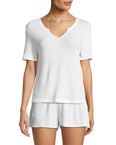 Skin Alydia Short-Sleeve Lounge Top