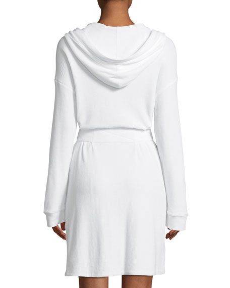 Avedon Hooded Long-Sleeve Short Robe