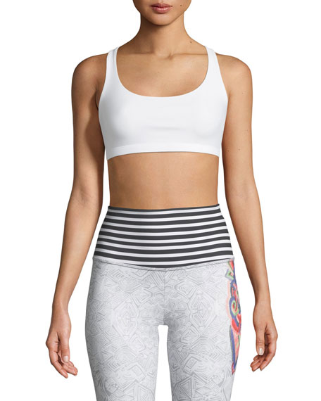 Chic Strappy-Back Sports Bra