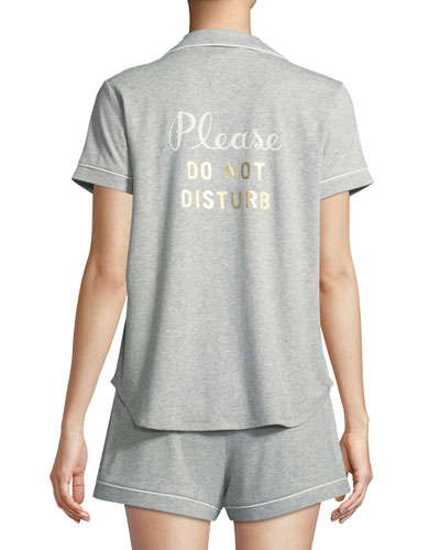 do not disturb short pajama set