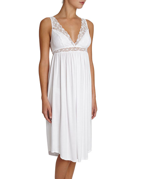 Kiss the Bride Lace-Trim Nightgown