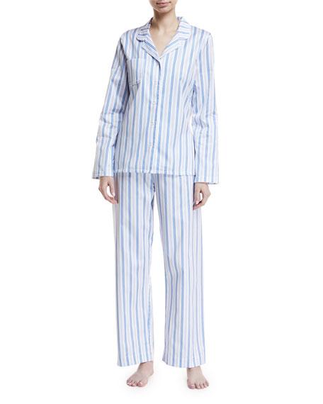 Derek Rose Wellington Classic Striped Pajama Set