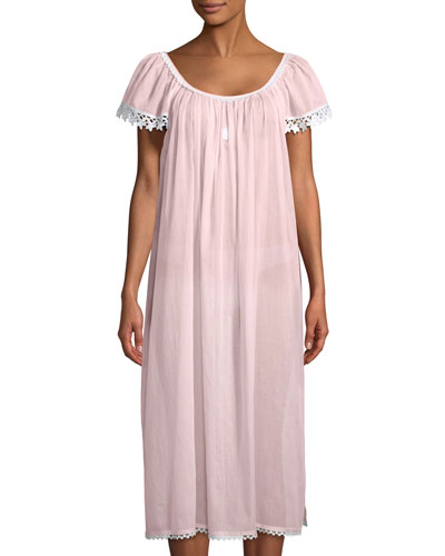 Evening Star Short-Sleeve Long Nightgown