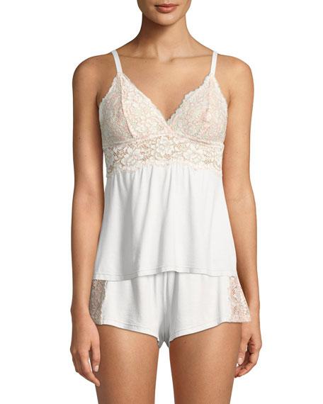 Pret-a-Porter Lace-Trim Tap Shorts
