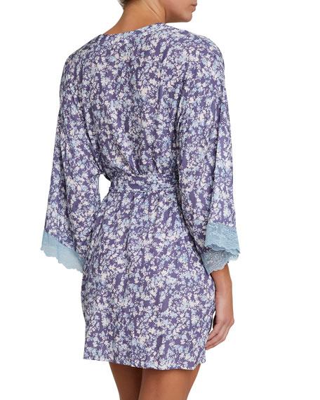 Lily Silk-Blend Short Robe