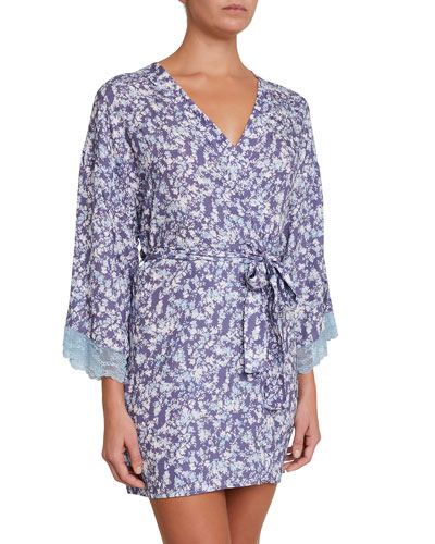 Lily Silk-Blend Short Robe