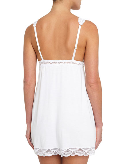 Matilda High Line Lace-Trim Chemise