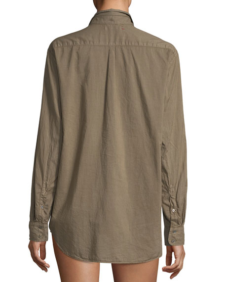 Beau Cotton Lounge Shirt