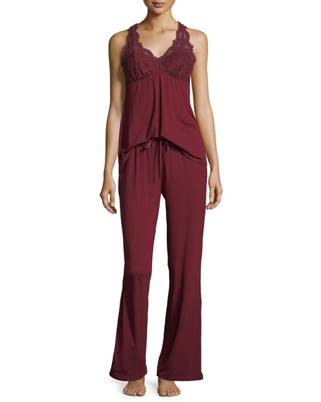 Belle Epoque Lace-Inset Pajama Set