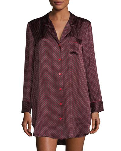Printed Silk Sleepshirt