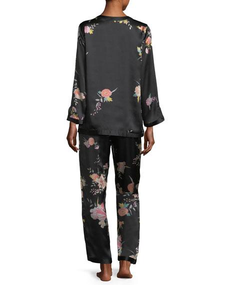 Midnight Garden Silk Pajama Set