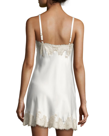 Lolita Lace-Trimmed Silk Chemise