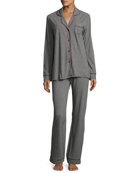 Cosabella Bella Striped Long-Sleeve Pajama Set