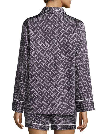 Labyrinth Satin Short Pajama Set
