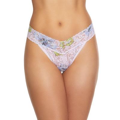 Garden Stripe Original-Rise Lace Thong