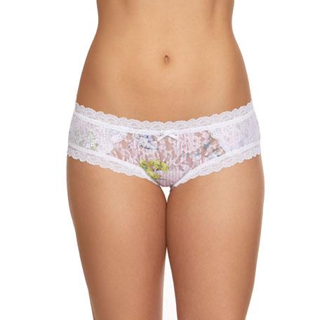 Hanky Panky Garden Stripe Lace Bikini Briefs