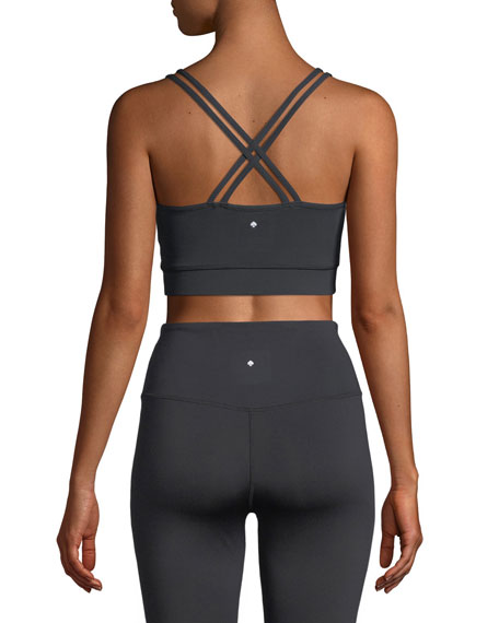 scallop sports bra