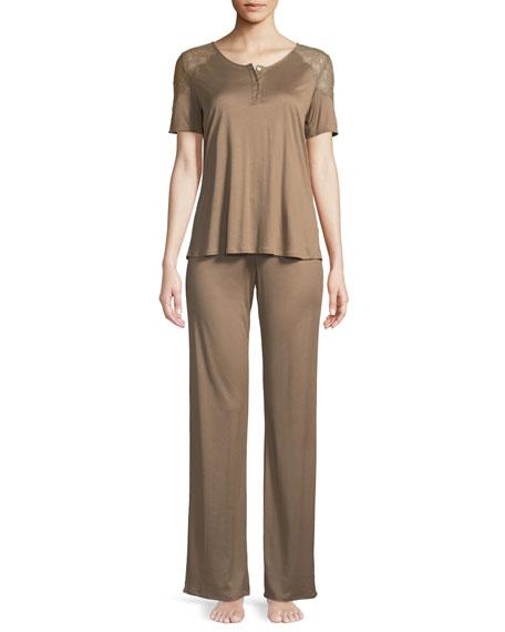 Hanro Fleur Long Pajama Set