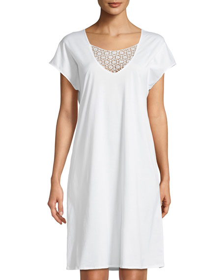 Hanro Melissa Short-Sleeve Nightgown