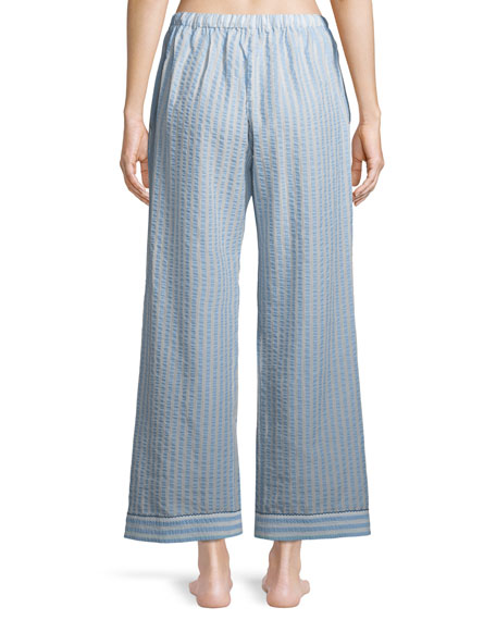Chantal Striped Seersucker Pajama Pants