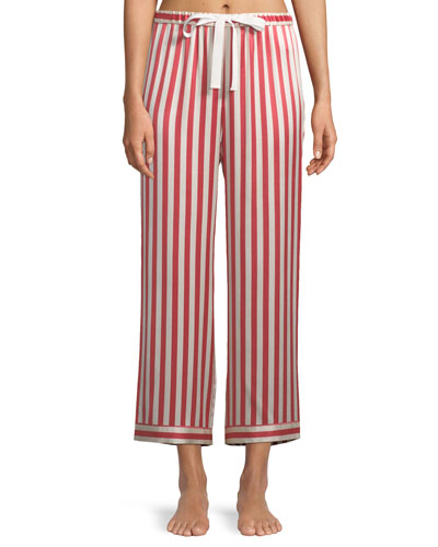 Americana Chantal Striped Silk Pajama Pants