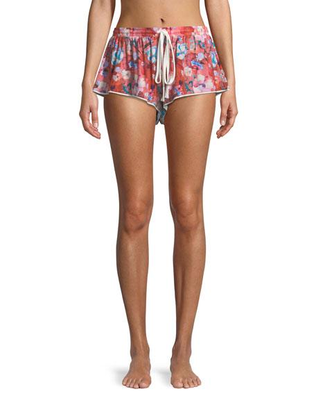 Aubrie Floral-Print Lounge Shorts