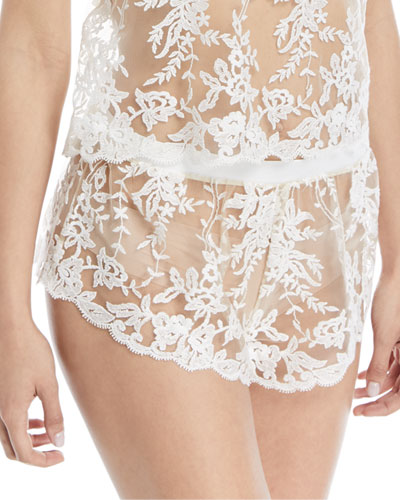 Rosie Sheer Lace Tap Shorts