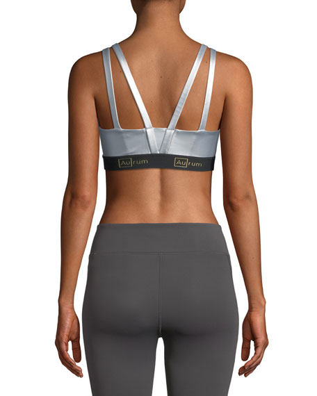 Confidence Double-Strap Power Mesh Sports Bra