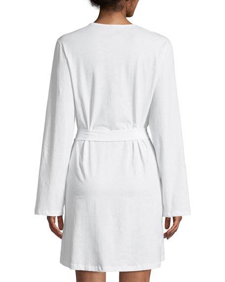 Jazmine Lace-Trim Jersey Robe
