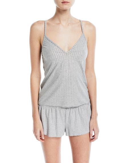 Minimalista Rib-Knit Tap Shorts