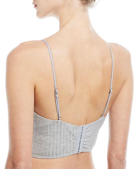 Minimalista Rib-Knit Bustier Top