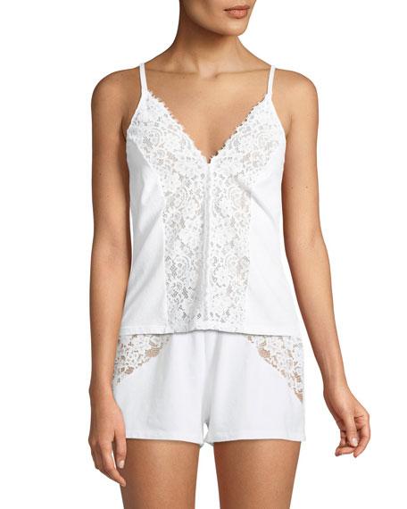 Jazmine Lace-Inset Lounge Shorts
