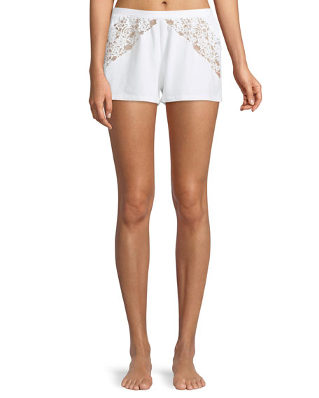 Jazmine Lace-Inset Lounge Shorts