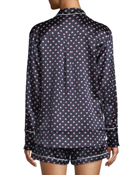 Alba Don Dot-Print Silk Shorty Pajama Set