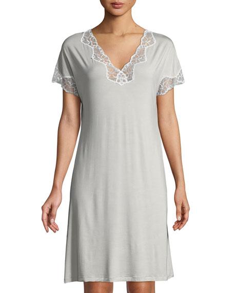 Met Tropical Lace-Inset Sleepshirt