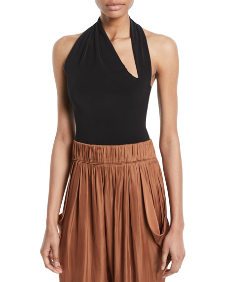 Halston Heritage Iconic Halter-Neck Sleeveless Bodysuit