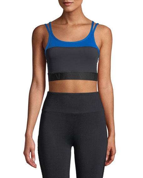 Alala Colorblock Strappy Cami Sports Bra