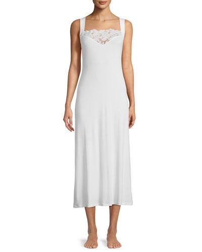 Cruise Lace-Yoke Long Nightgown