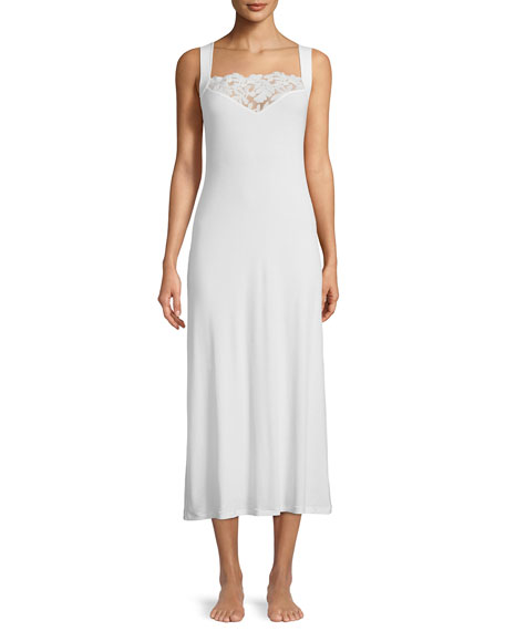 Cruise Lace-Yoke Long Nightgown
