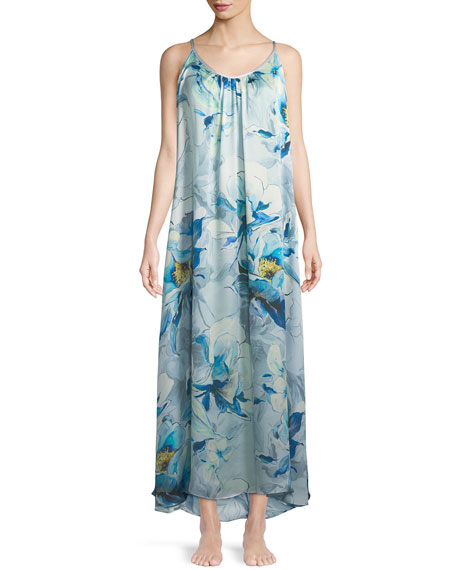 Swept Away Long Silk Nightgown