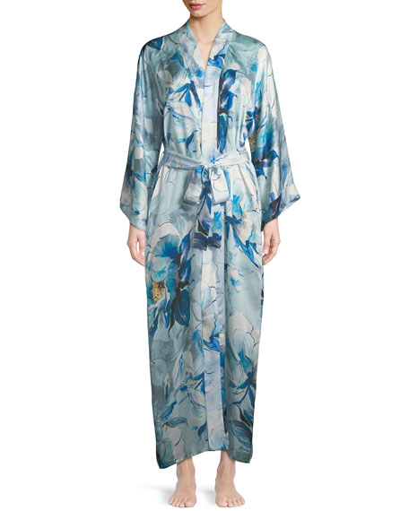 Christine Designs Swept Away Long Silk Robe