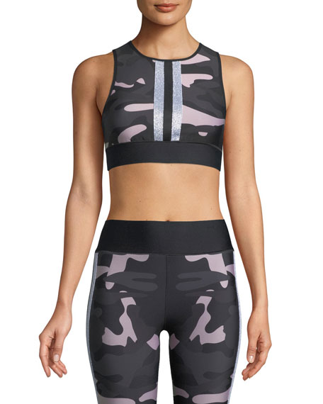 Level Camo Collegiate Crop Top