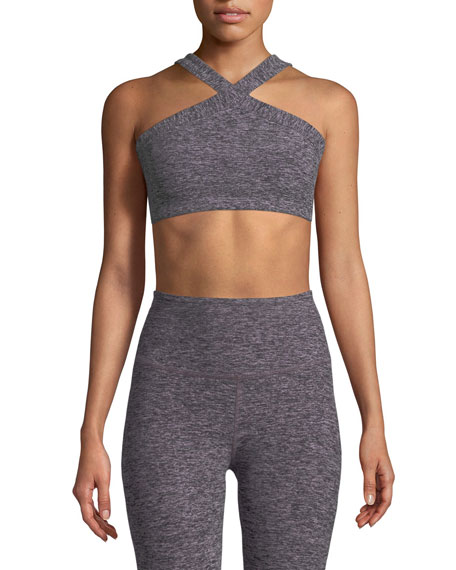 Beyond Yoga High-Cut Crisscross Sports Bra