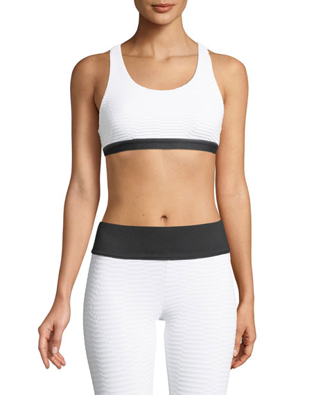 Koral Activewear Tax Cutout Racerback Sports Bra