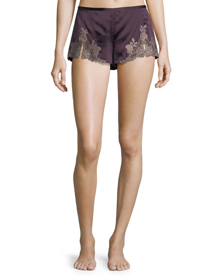 Josie Natori Lillian Lace Applique Shorts