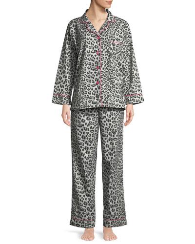 Wild Kingdom Classic Pajama Set, Gray Pattern