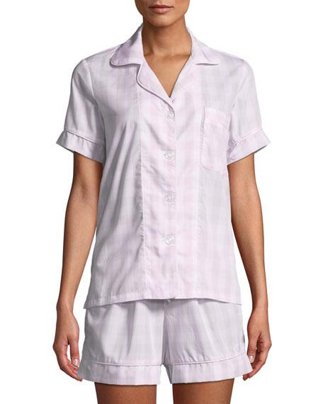 Tonal Gingham Shorty Pajama Set